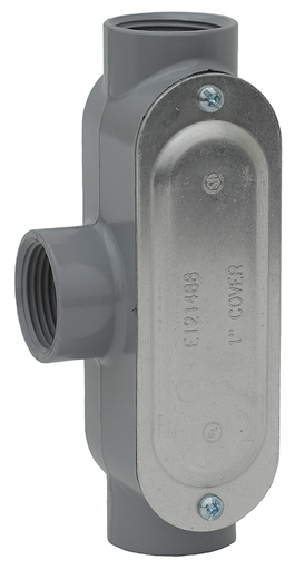 Item # T75CG, (T75CG) T Style/Type Threaded Conduit Body with Cover and Gasket