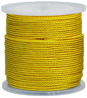 Item # 3625, (3625) Polypropylene Yellow Pull Fiber Rope