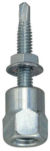 Item # SSM38BR, (SSM38BR) Steel Bottom Mount Threaded Rod Hanger with Nut