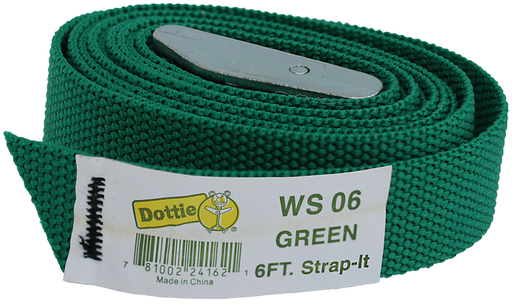 DOTTIE WS06 GRN 6FT WEB STRAP