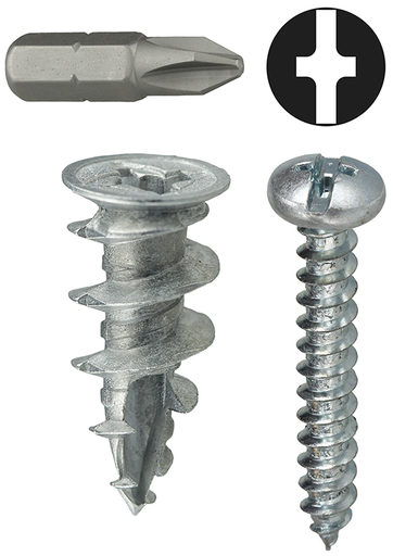 Item # WDK8T, (WDK8T) Zinc Wall Board Anchor Kit