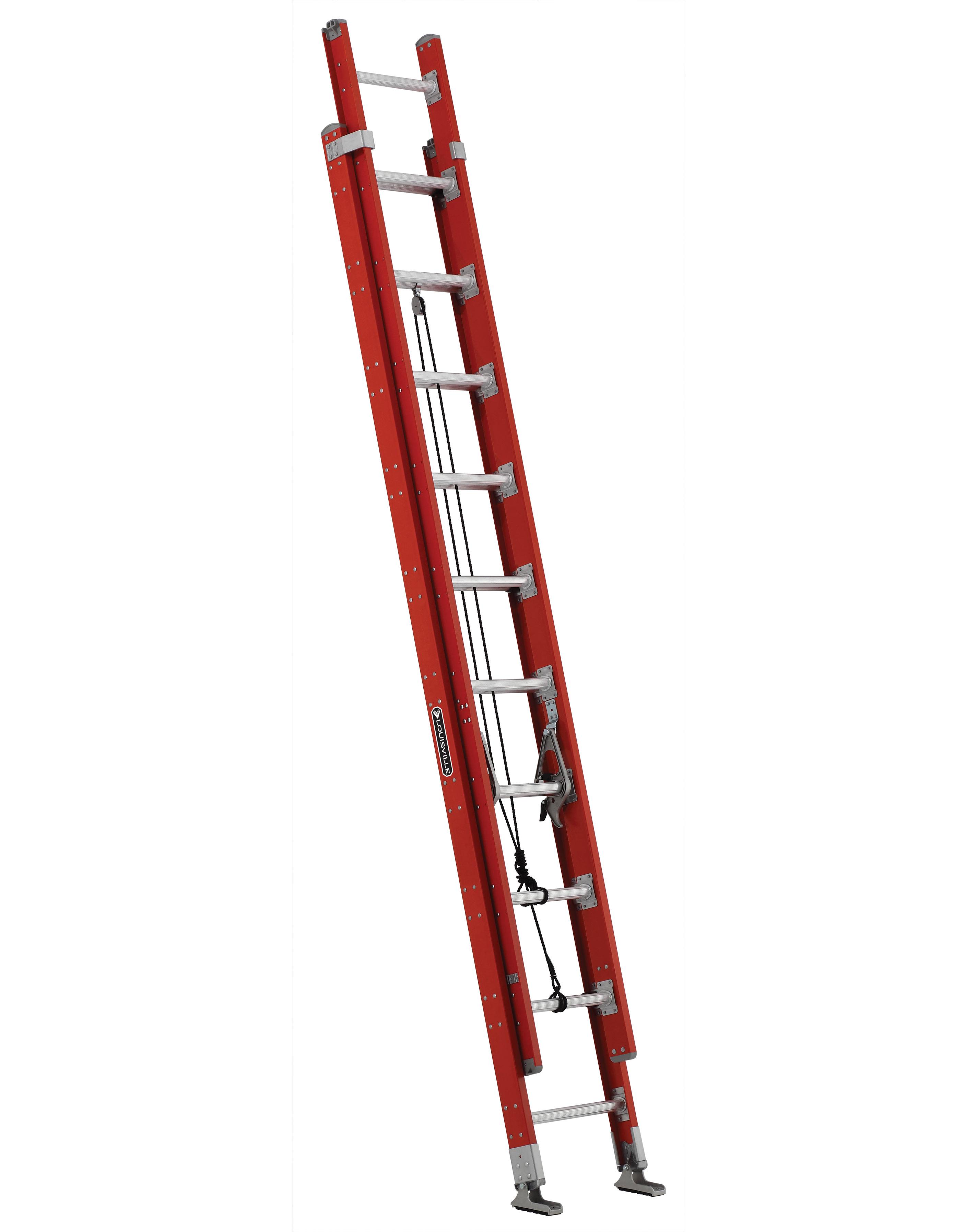 LOUISVILLE LADDERS 20 ft Fiberglass Multi-section Extension Ladders