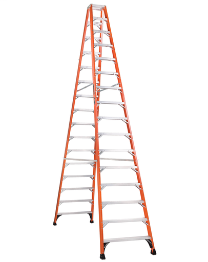 Mayer-16 ft Fiberglass Twin Front Step Ladders-1