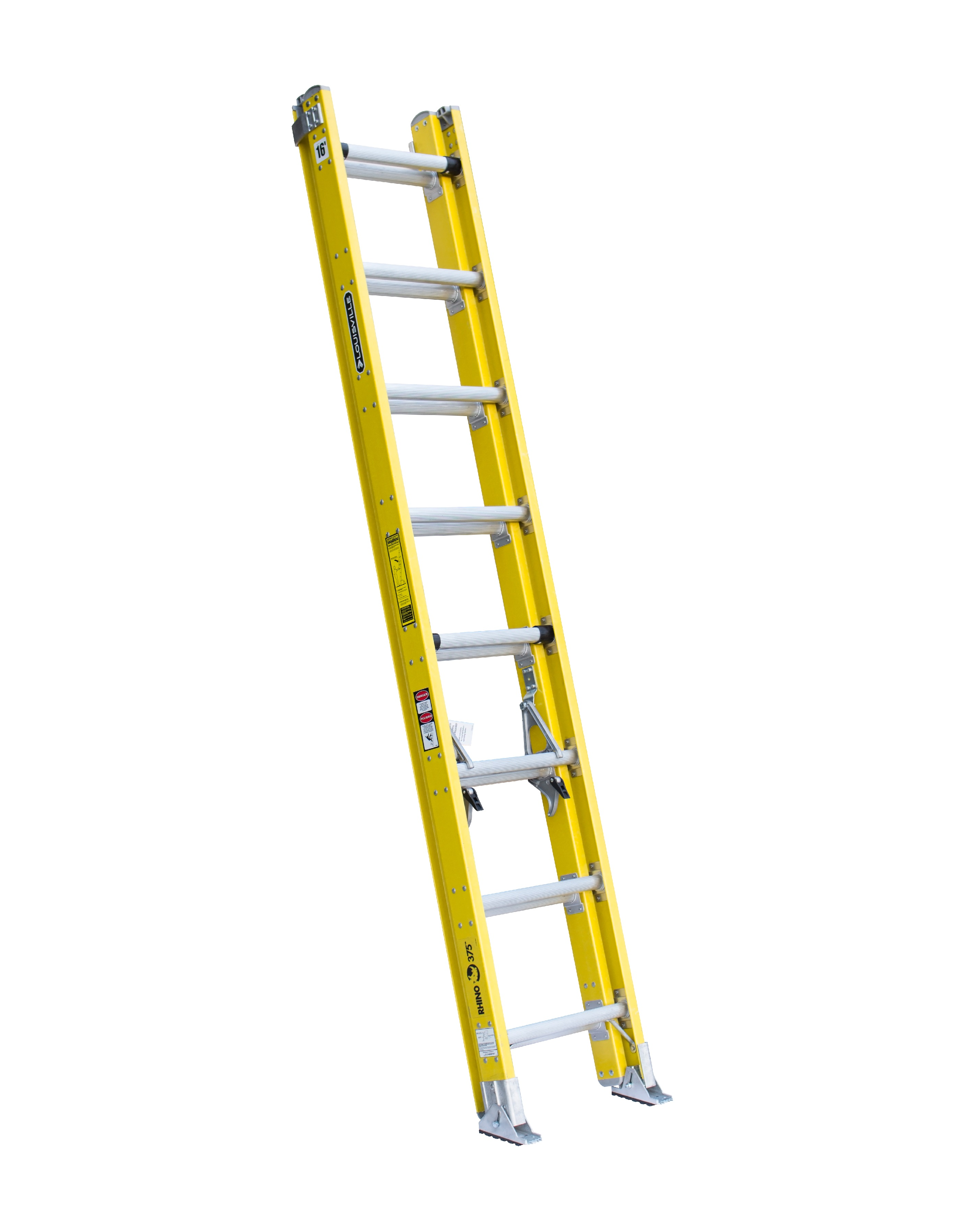 Louisville Ladder FE4216HD 16 Foot 375 lb Duty Rating Fiberglass Extension Ladder
