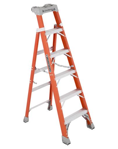 Mayer-6 ft Fiberglass 2 in 1 Step Ladders-1