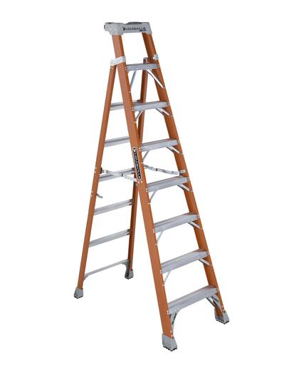 Mayer-8 ft Fiberglass 2 in 1 Step Ladders-1
