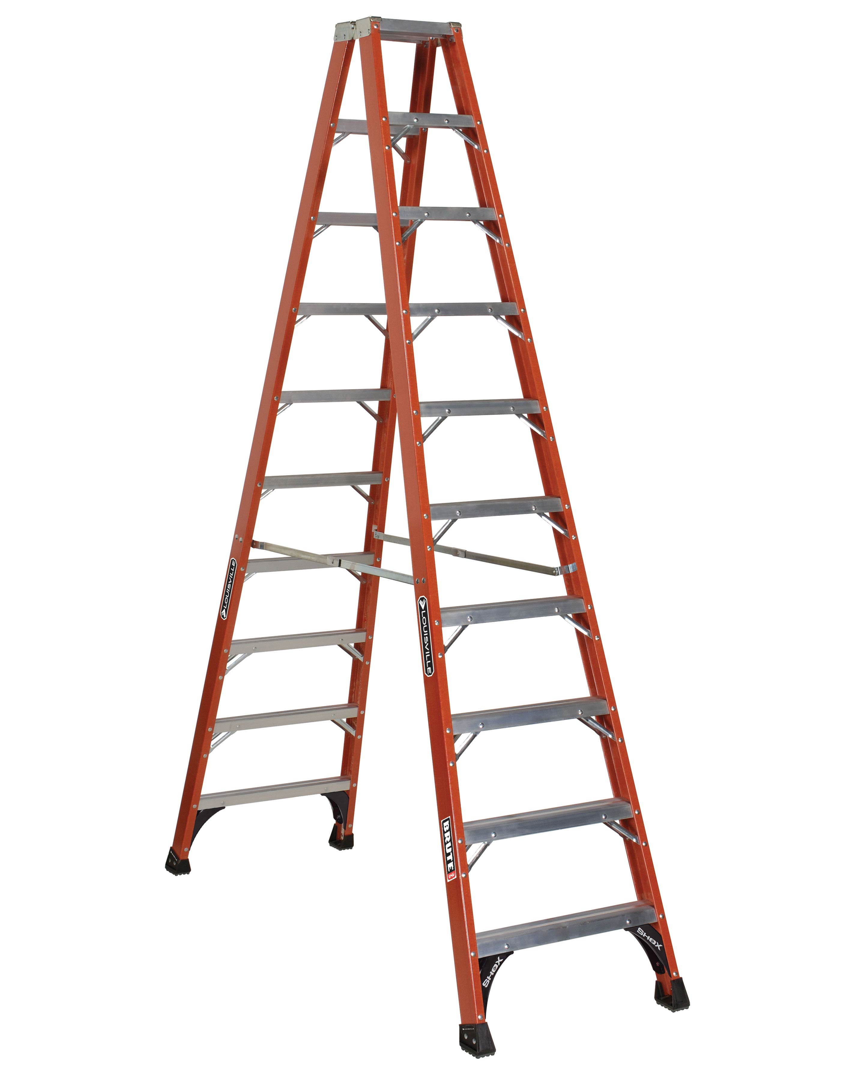 Louisville Ladder FM1410HD 10 Foot 375 lb Duty Rating Fiberglass Twin Front Ladder