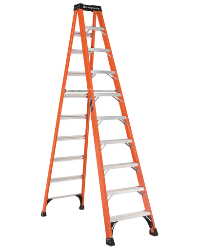 Mayer-10 ft Fiberglass Standard Step Ladders-1