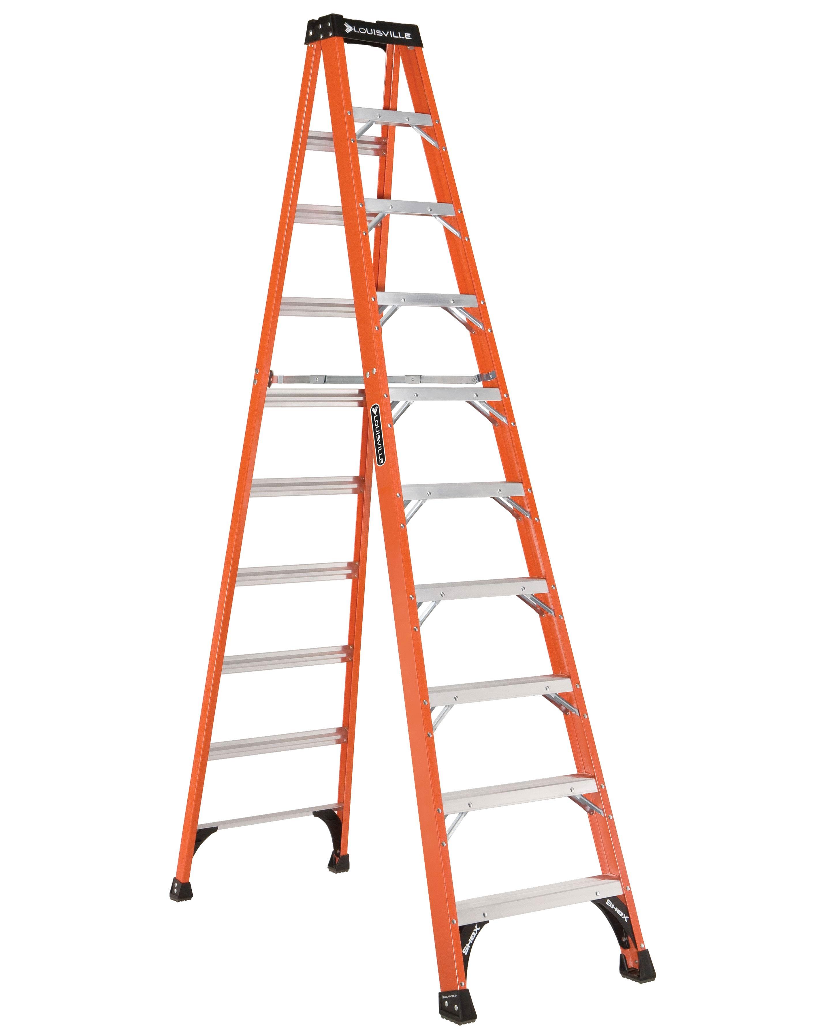 LOUISVILLE LADDERS 10 ft Fiberglass Standard Step Ladders