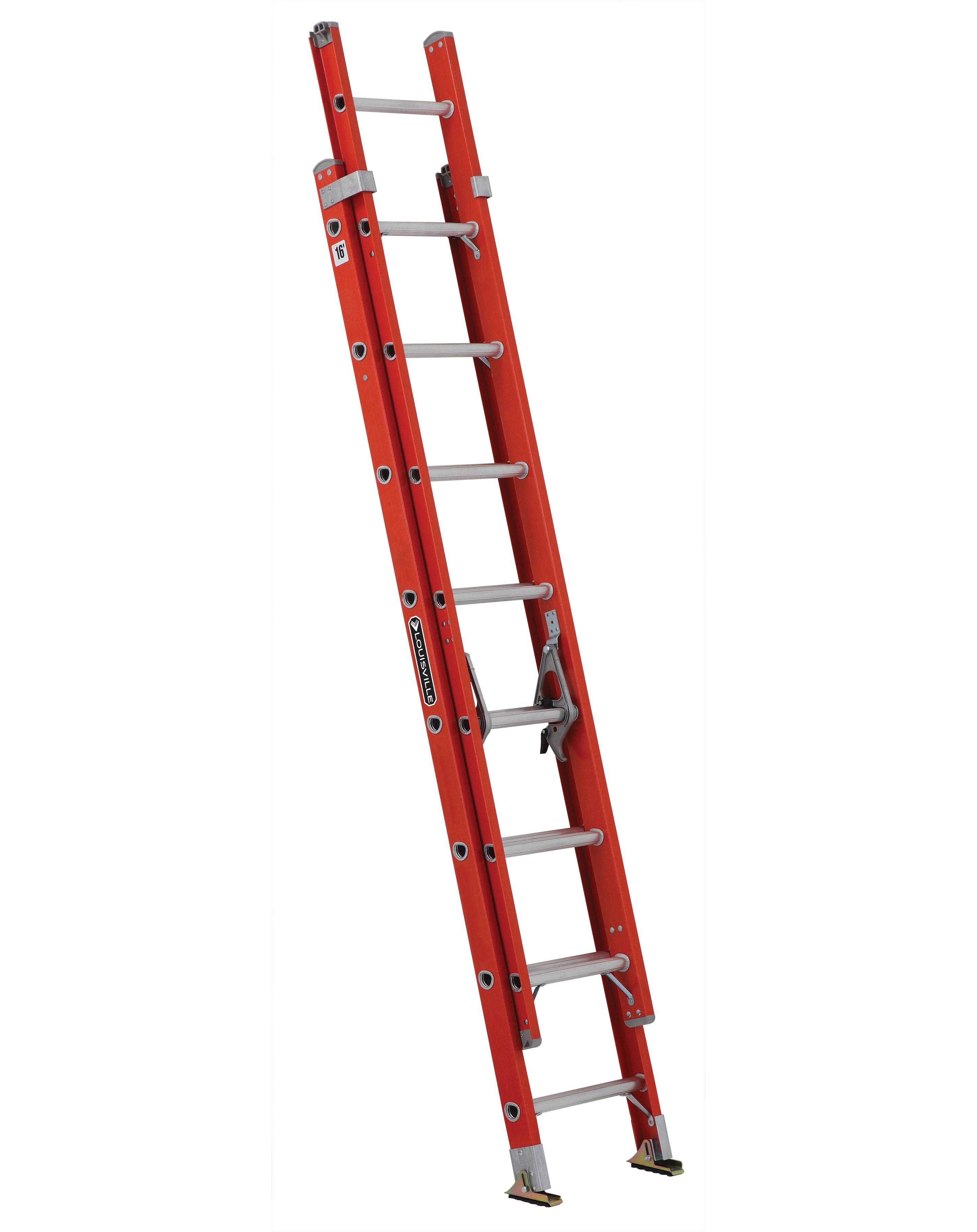 Louisville Ladder FE3216 16ft Fiberglass Extension Ladder, 300lb Load Capacity