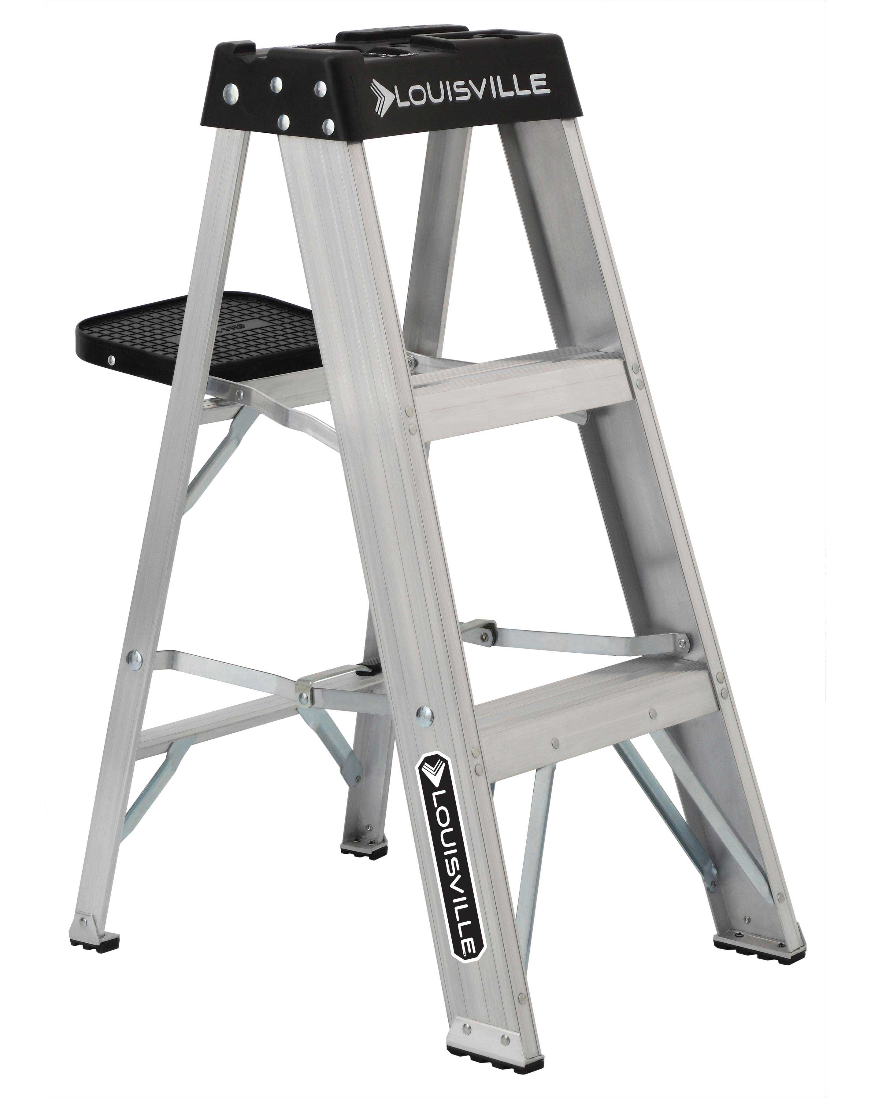 Louisville Ladder AS3003 3 Foot 300 lb Duty Rating Aluminum Stepladder