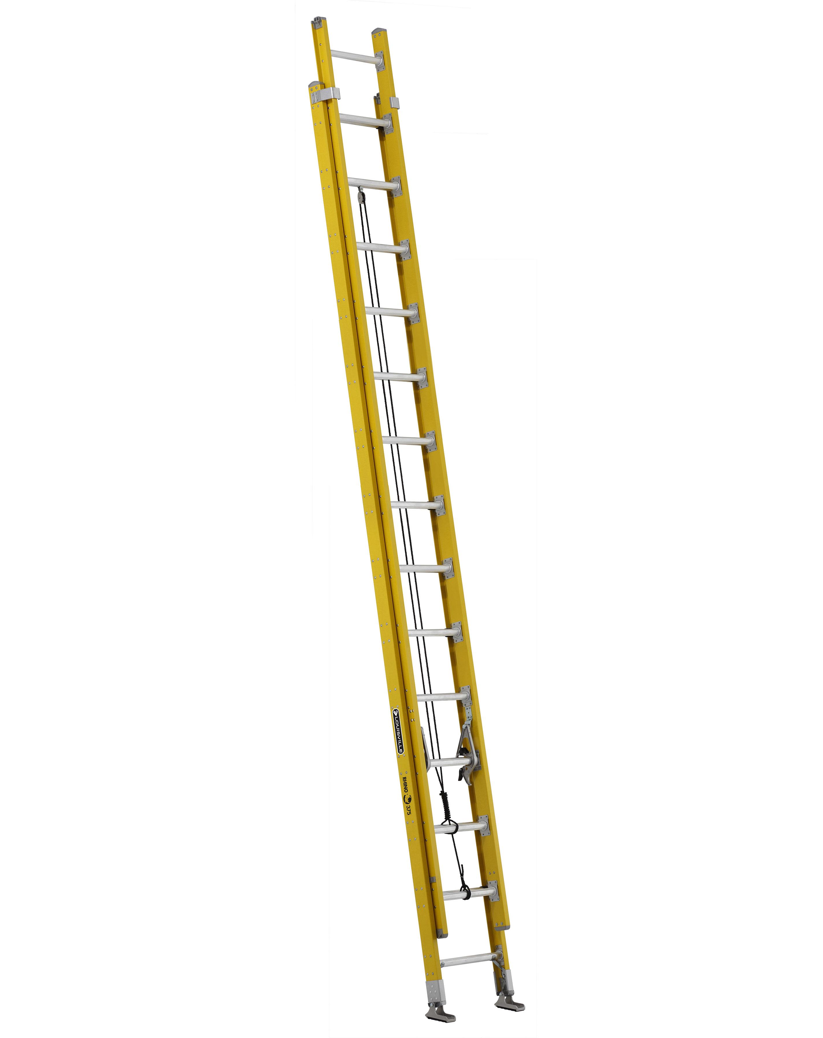 Louisville Ladder FE4228HD 28 Foot 375 lb Duty Rating Fiberglass Extension Ladder
