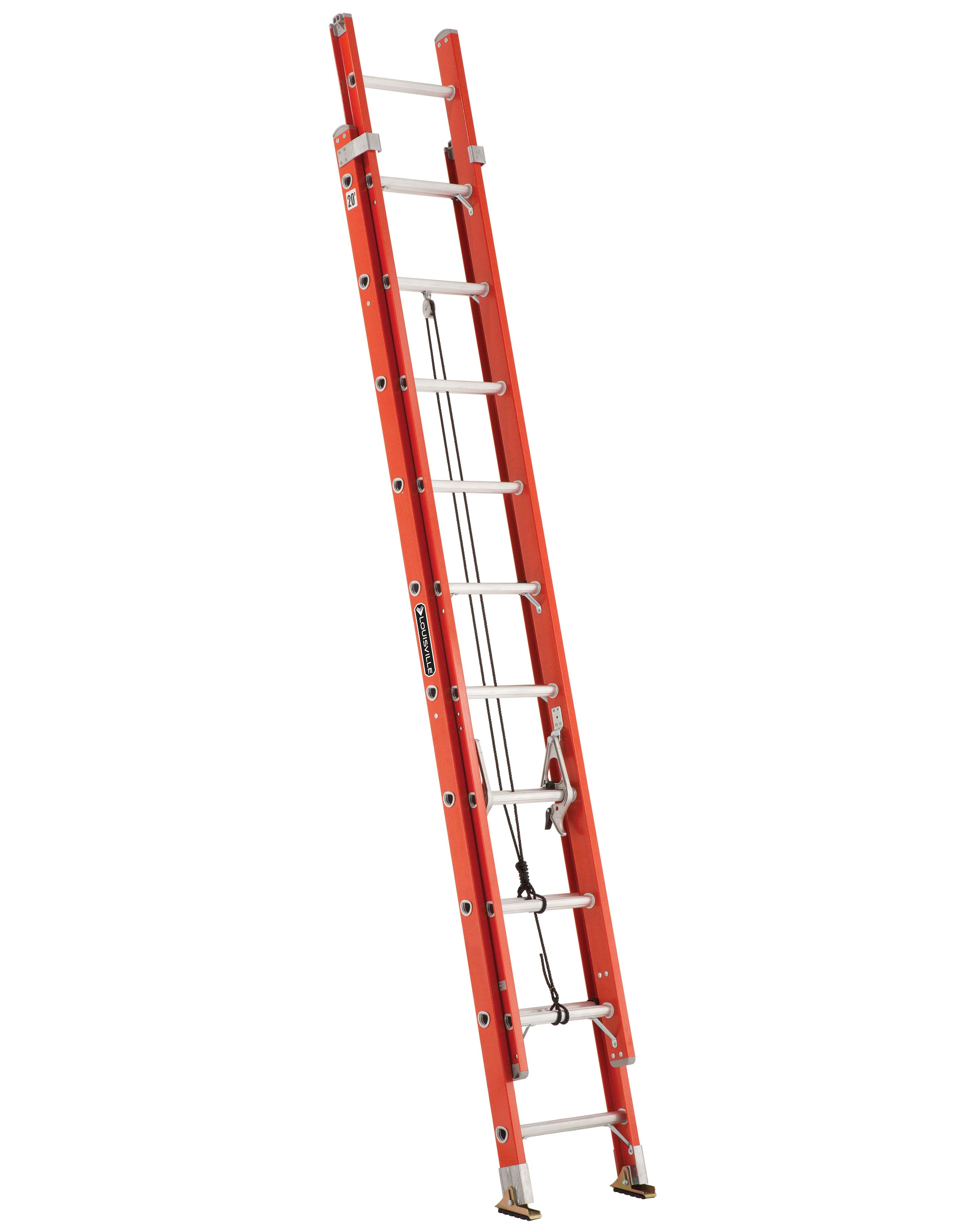 LOUISVILLE LADDERS LOUISVILLE FE3220 20FT FIBERGLASS EXTENSION LADDER 300-Pound Capacity