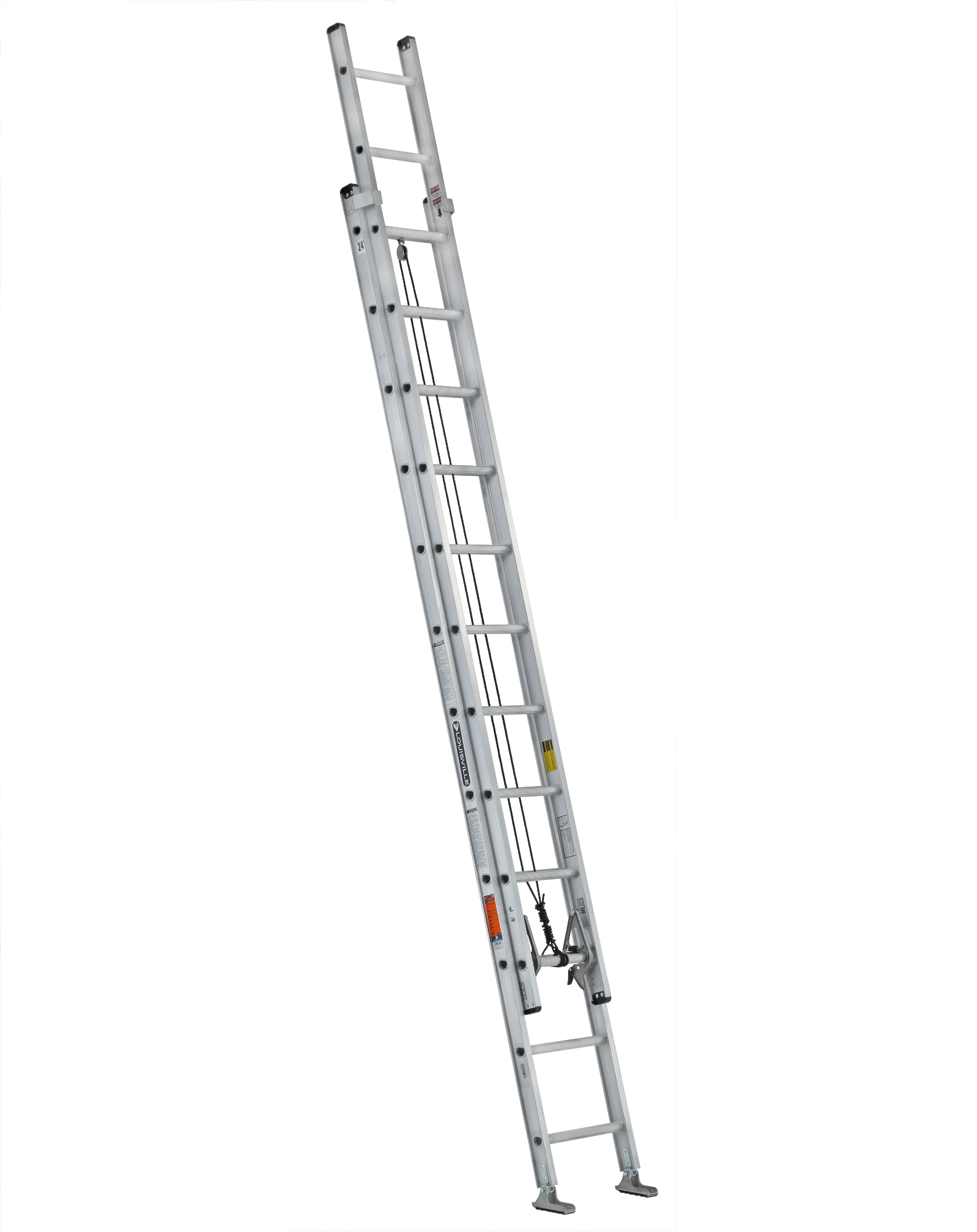 Louisville Ladder AE2224 300 lb Capacity 24 Foot Aluminum Extension Ladder
