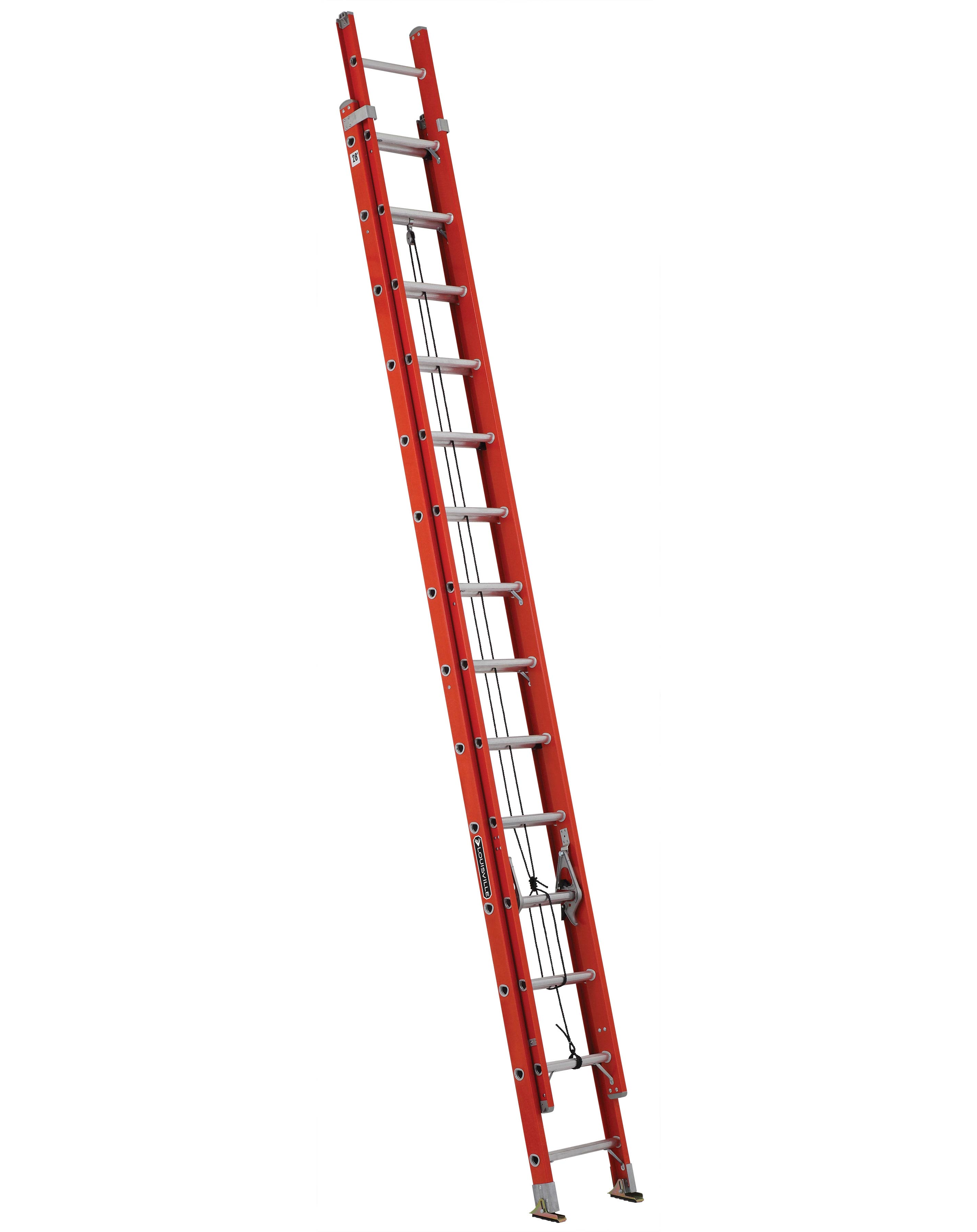 LOUISVILLE LADDERS 28 ft Fiberglass Multi-section Extension Ladders