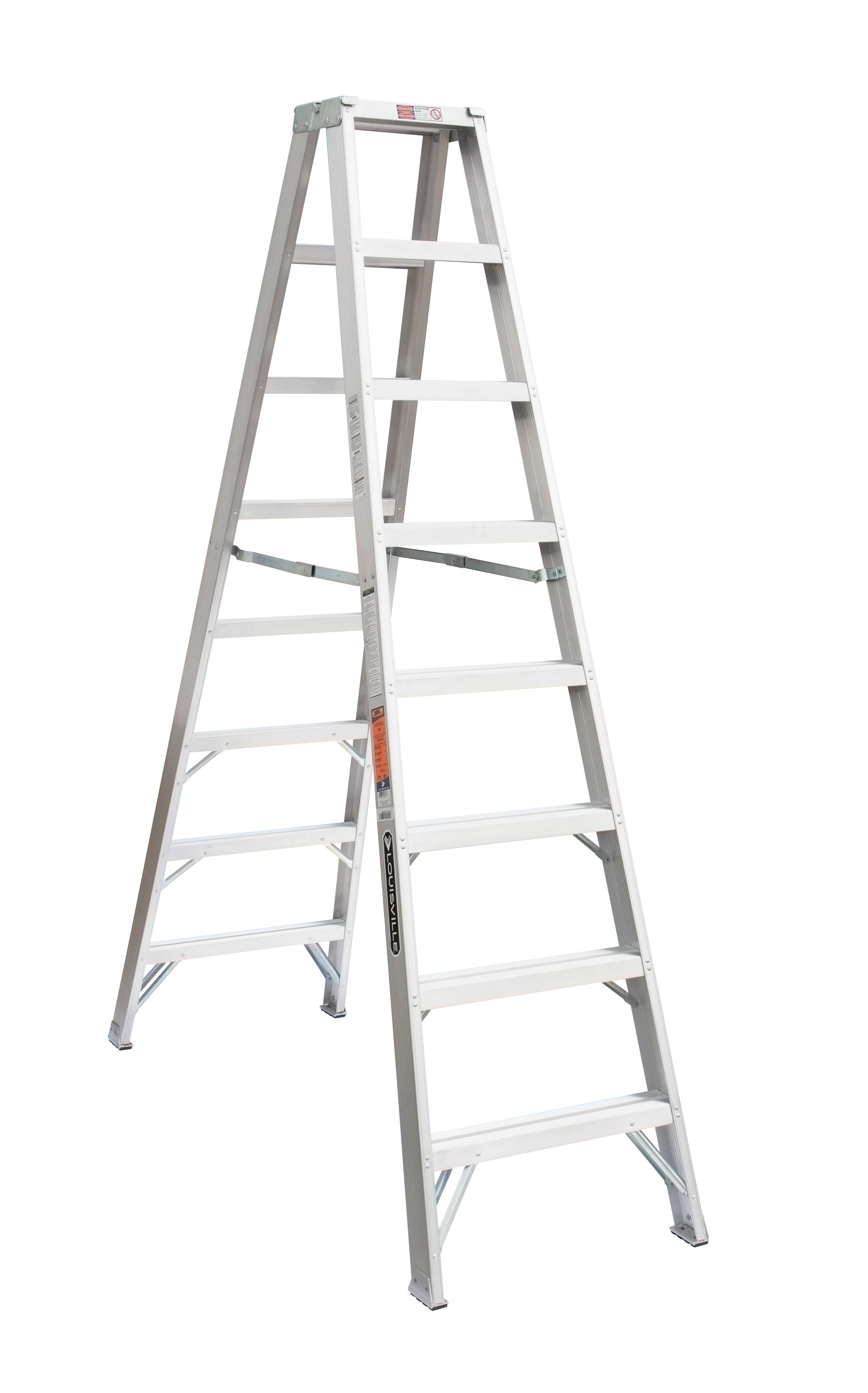 Louisville Ladder AM1008 8 Foot 300 lb Duty Rating Aluminum Twin Front Step Ladder