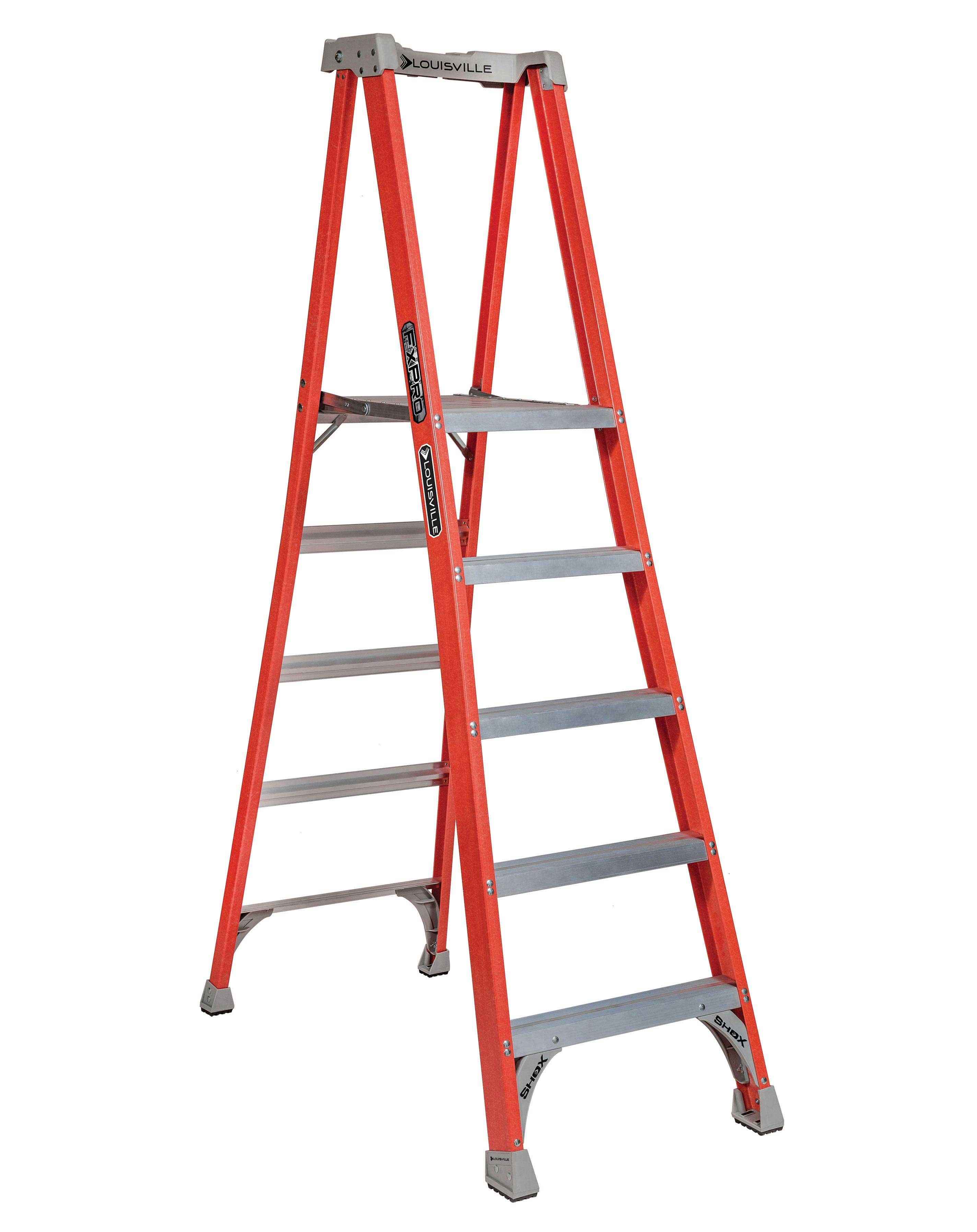 Louisville Ladder FXP1705 5ft Fiberglass Platform Ladder, Type IA, 300lb Load Capacity