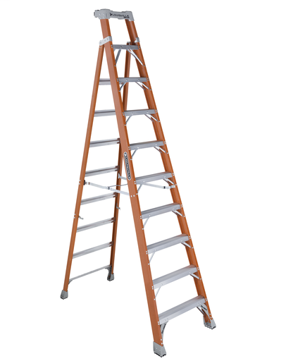Mayer-10 ft Fiberglass 2 in 1 Step Ladders-1