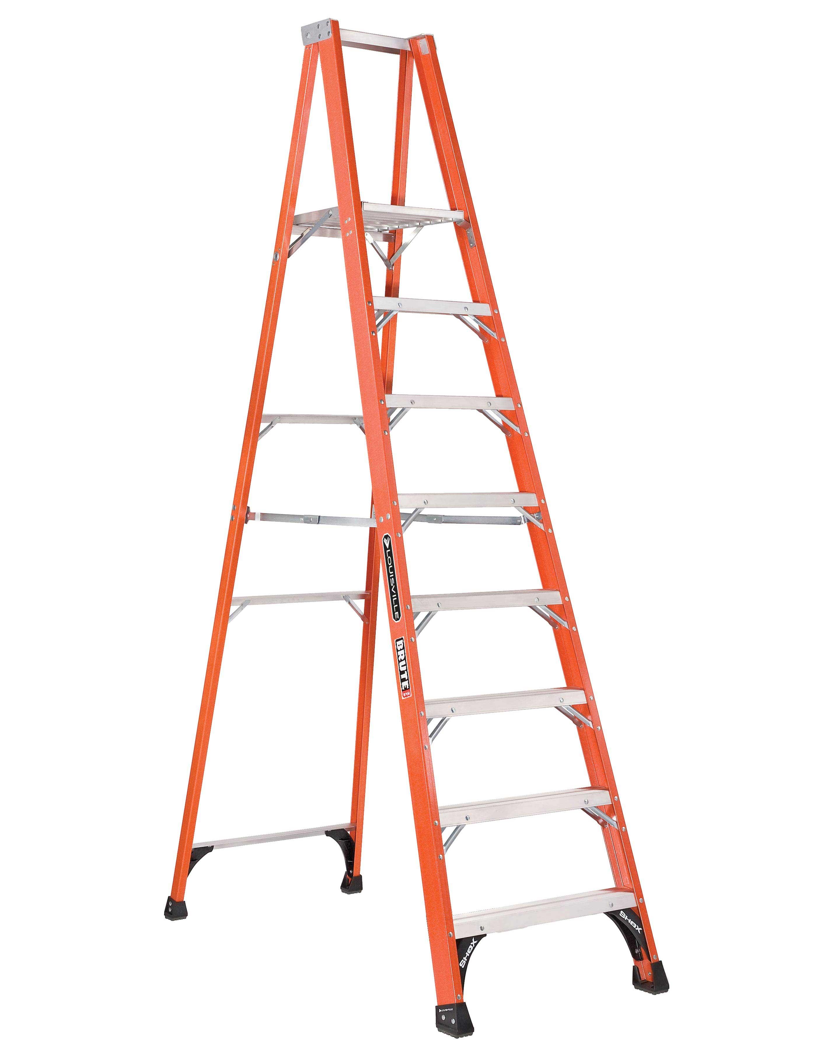 Louisville Ladder FP1408HD 8 Foot 375 lb Duty Rating Fiberglass Platform Ladder