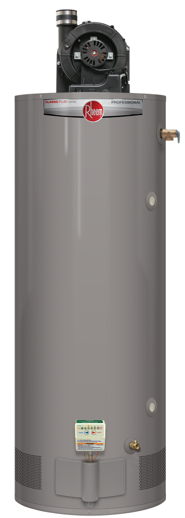 Professional Classic Plus Heavy Duty Power Vent 75 Gallon Natural Gas Water Heater with 8 Year Limited Warranty