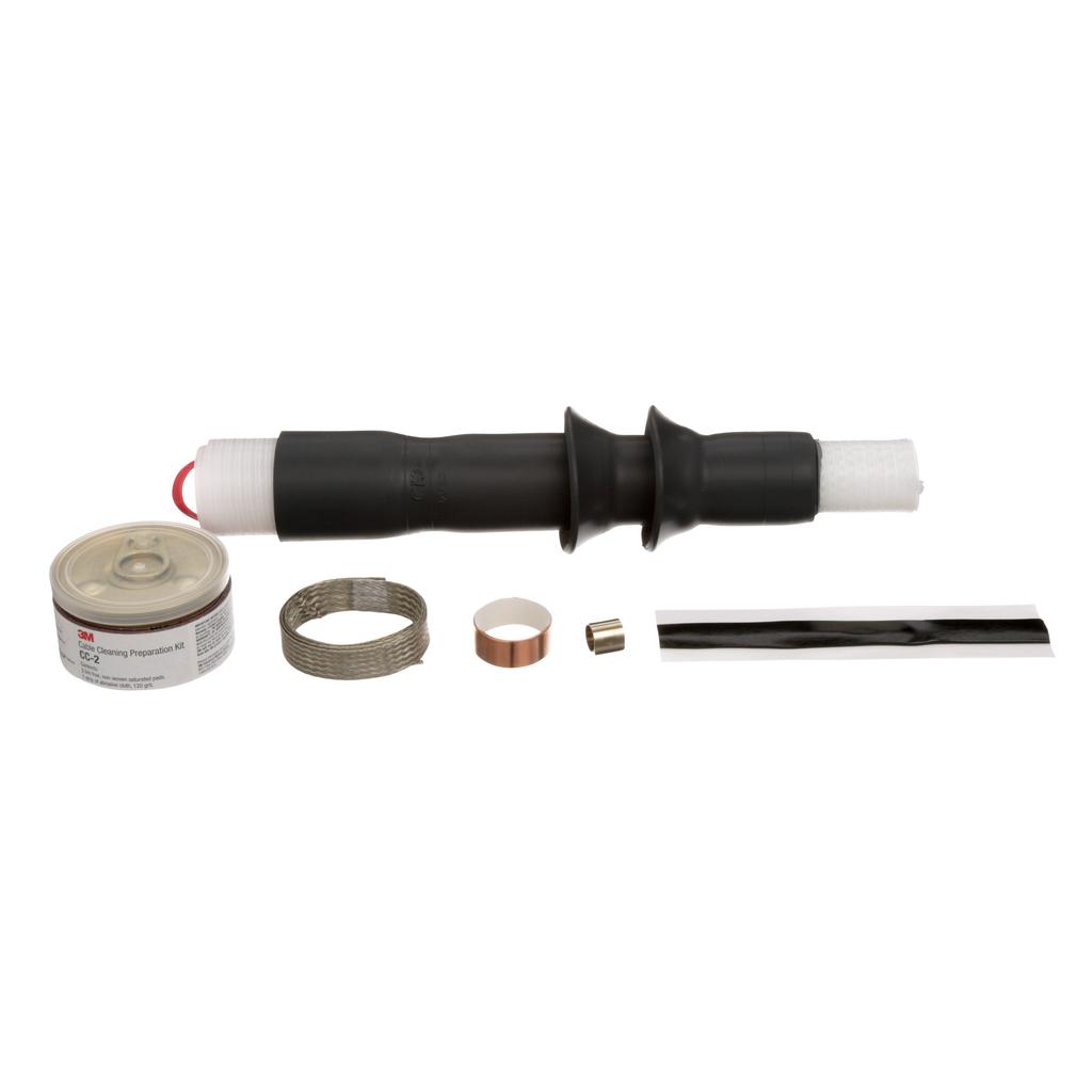 Mayer-3M™ Cold Shrink QT-III Termination Kit 7621-S-2, Tape, Wire, UniShield®,5-8.7 kV, Insulation OD 0.44-0.89 in, 2 Skirt, 3/kit-1