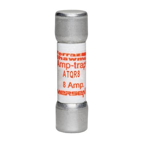 Ferraz Shawmut ATQR8 8 Amp 600 Volt Glass Melamine Laminated Class CC Rejection Time Delay Fuse