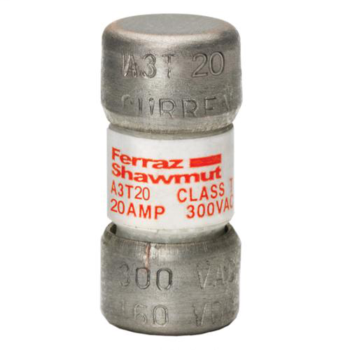 Mersen A3T20 20 Amp 300 Volt Class T Fast Acting Fuse