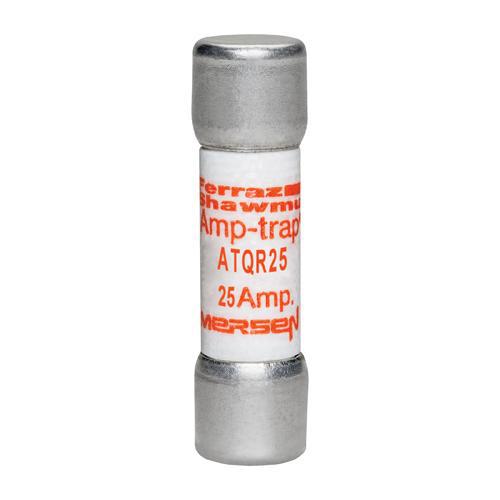 Ferraz Shawmut ATQR25 25 Amp 600 Volt Glass Melamine Laminated Class CC Rejection Time Delay Fuse