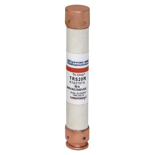 Ferraz Shawmut TRS20R 13/16 x 5 Inch 20 Amp 600 Volt Class RK5 Current Limiting Time Delay Fuse