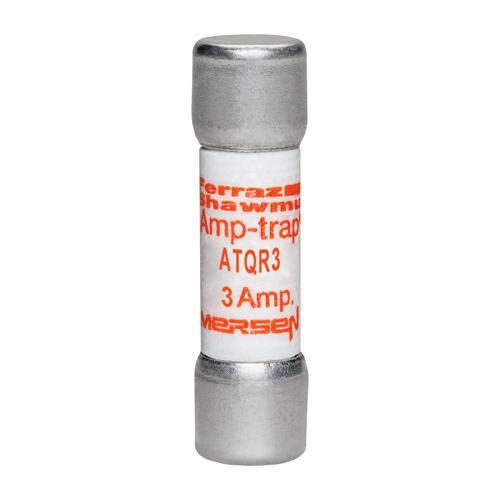 Ferraz Shawmut ATQR3 3 Amp 600 Volt Glass Melamine Laminated Class CC Rejection Time Delay Fuse