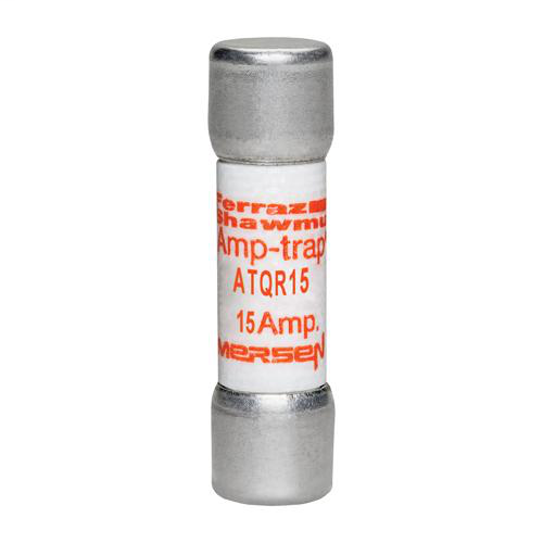 Ferraz Shawmut ATQR15 15 Amp 600 Volt Glass Melamine Laminated Class CC Rejection Time Delay Fuse