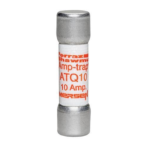 Ferraz Shawmut ATQ10 10 Amp 500 Volt Glass Melamine Laminated Time Delay Midget Fuse