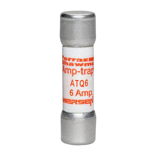 Ferraz Shawmut ATQ6 6 Amp 500 Volt Glass Melamine Laminated Time Delay Midget Fuse