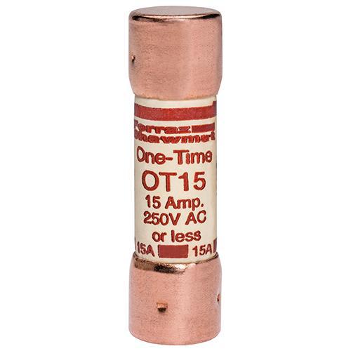 Ferraz Shawmut OT15 9/16 x 2 Inch 15 Amp 250 Volt Class K5 General Purpose Fuse