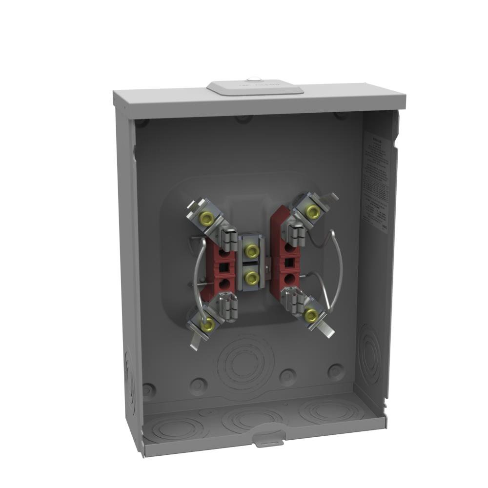 Ringless Meter Socket - 4.125L x 11W x14.563H - 200A - 4 Terminal - Small Closing Plate