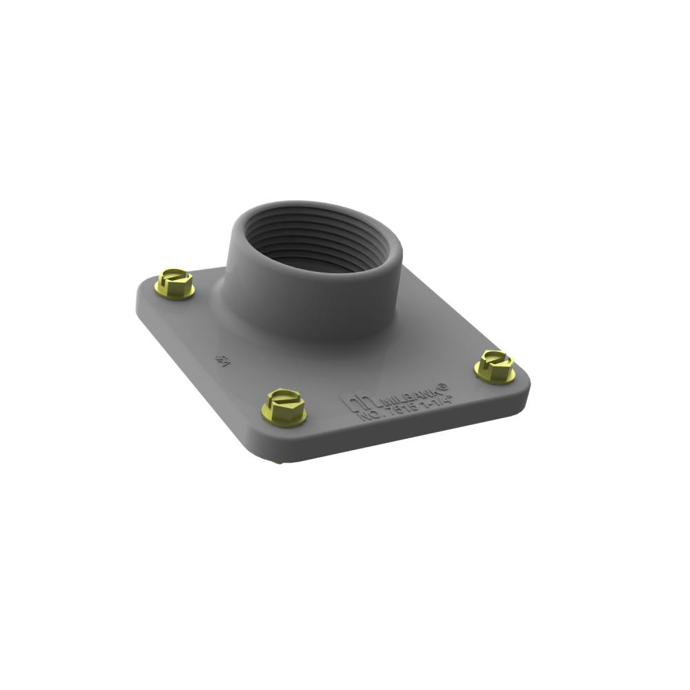 Small Meter Socket Hub - 1 Inch - Unpainted Aluminum