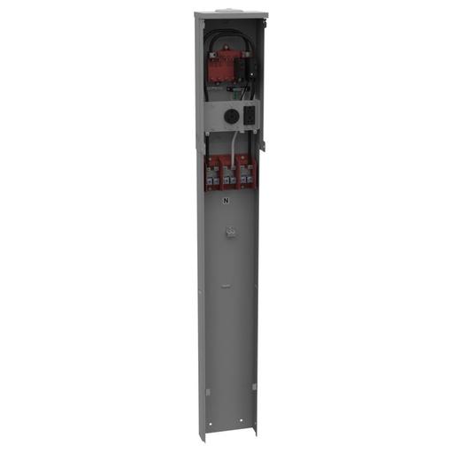 MIB U5200-XL-41 Unmeter Pedestial w/30A SP Bkr,3 wire recpt,20A brkr,GFI Duplex Recpt