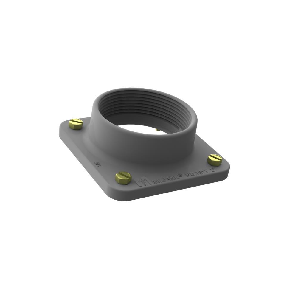 Small Meter Socket Hub - 2 Inch - Unpainted Aluminum