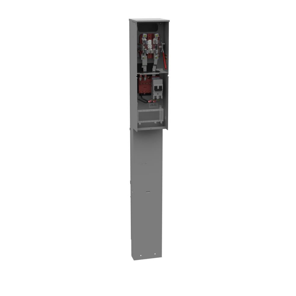 Ringless Meter Socket - 4.13L x 9.88W x80H - 200A - 5 Terminal - Plain Top