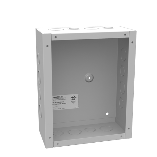 10x4X8 Screw Cover Type 1 UL Listed Steel Knockouts ANSI 61 Gray Cover With Teardrop Slots Mounting Holes In Back