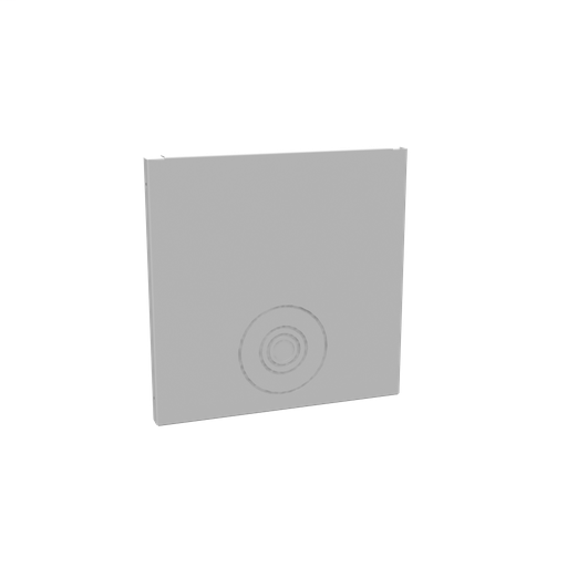Wireway End Type 1 10x10 Screw Cover ANSI 61 Gray Steel Knockouts