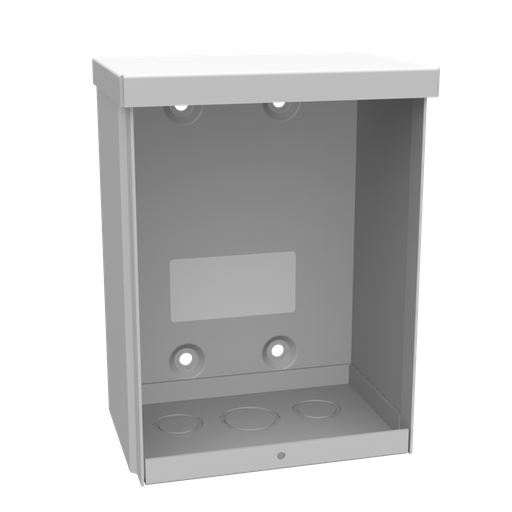 8x4X6 Screw Cover Type 3R UL Listed Steel Knockouts ANSI 61 Gray Quad D Knockout For Lock Emboss Mounting Holes In Back