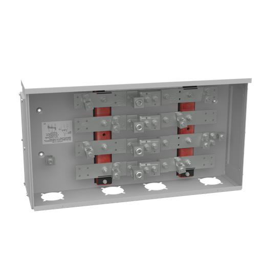 400 Ampere 3 Phase 600 Volt 28in-15in-6in Painted Steel Lift Off Screw Front 1 Lug Per Landing - 4-600kcmil 2 Lugs Per Landing - 6-250kcmil 42k Ampere Interrupting Capacity