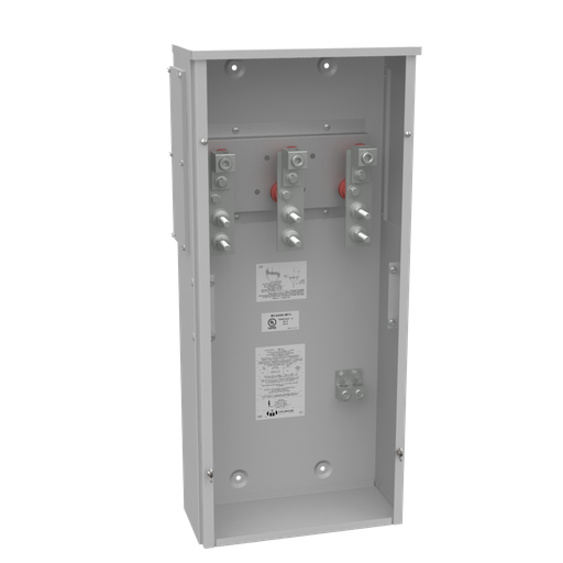 400 Ampere 1phase 600 Volt 16in-36in-7in Painted Steel Lift Off Screw Front .5-13 Studs 1 Lug Per Landing - 4-600kcmil 10k Ampere Interrupting Capacity