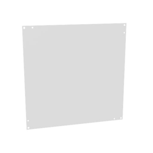 Back Panel Non UL Listed 18x18 Small Hinge Cover White Steel
