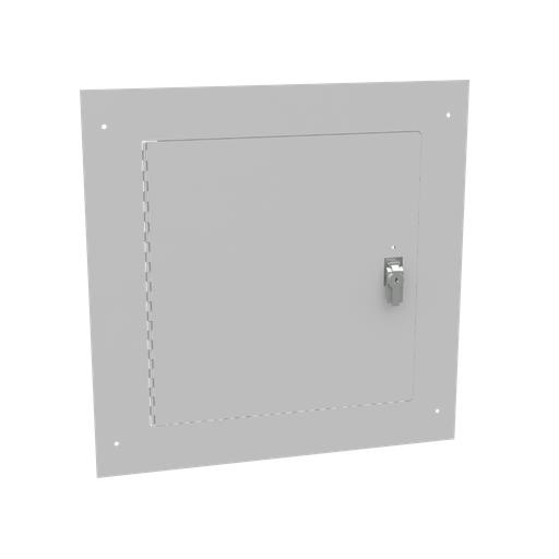 Flush Mount Cover Type 1 18x18 Screw Cover ANSI 61 Gray Steel Hinged Door Key Locking Slam Latch