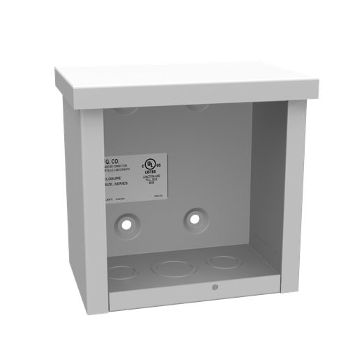 6x4X6 Screw Cover Type 3R UL Listed Steel Knockouts ANSI 61 Gray Quad D Knockout For Lock Emboss Mounting Holes In Back