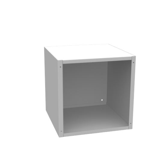 12x12x12 Screw Cover Type 1 UL Listed Steel No Knockouts ANSI 61 Gray Cover With Teardrop Slots Mounting Holes In Back