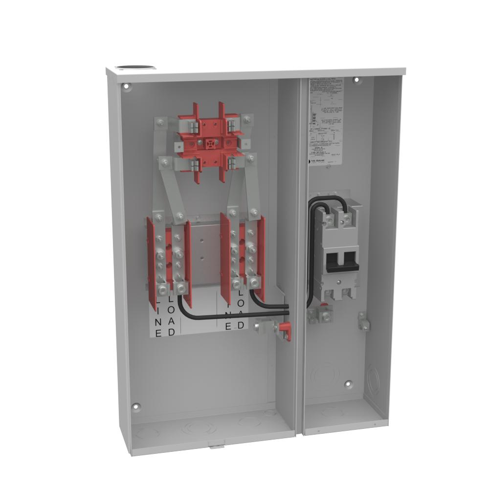 Milbank U224MTB 240 VAC 200 Amp 4-Terminal 1-Phase 1-Position Ring Type Overhead/Underground Meter Socket