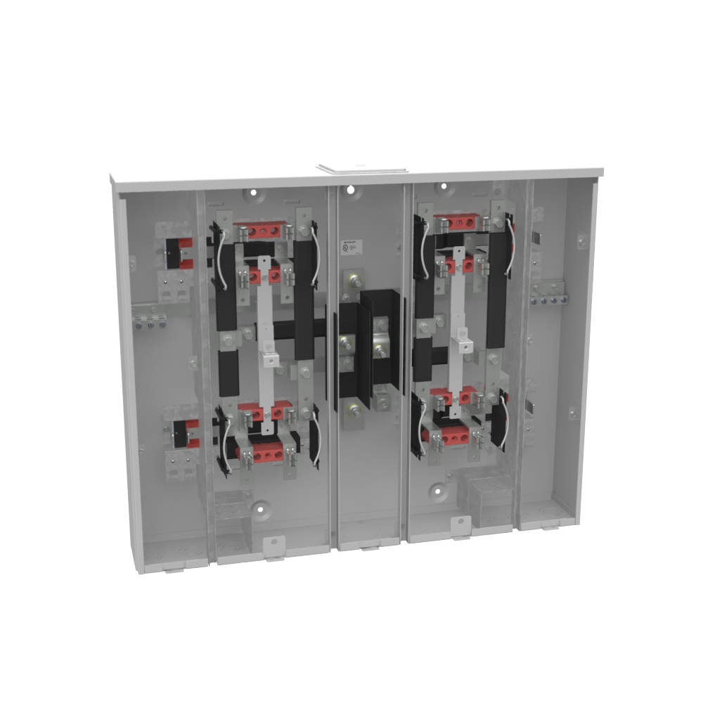 MILBANK 4 Terminal Ringless Large Closing Plate 4 Position 4-125 Ampere Main Breaker Provision